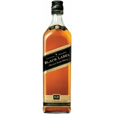 "Виски"" Johnnie Walker"" Black label  0.375 л"